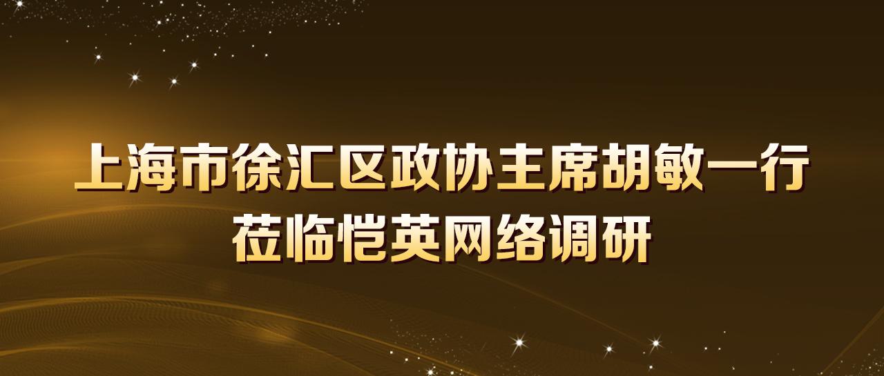 上海市徐汇区政协主席胡敏一行莅临恺英网络调研